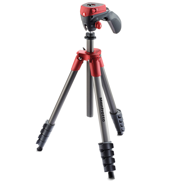 Штатив премиум Manfrotto Compact Action Red (MKCOMPACTACN-RD) sda100 30 free shipping 100mm bore 30mm stroke compact air cylinders sda100x30 dual action air pneumatic cylinder