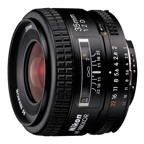 Объектив Nikon 35mm f/2D AF Nikkor nikon nikon af s nikkor 28mm f 1 8g фиксированный фокус широкоугольный объектив