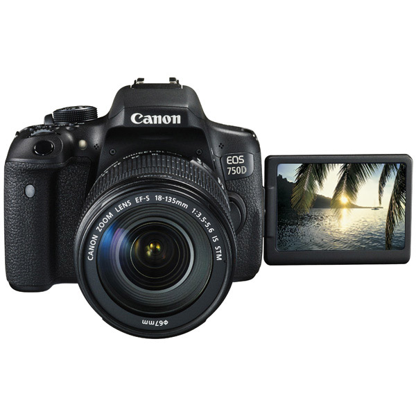 Фотоаппарат зеркальный Canon EOS 750D Kit 18-135 IS STM Black фотоаппарат canon eos m100 18mpix 3 1080p wifi 15 45 is stm lp e12 черный 2209c012