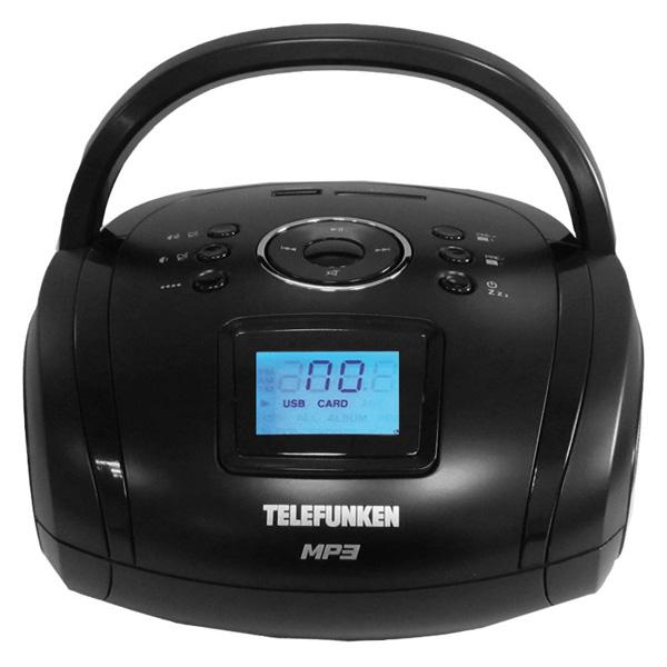 Магнитола Telefunken TF-SRP3449 Black магнитола telefunken tf srp3449 blue with black
