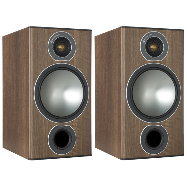 Полочные колонки Monitor Audio Bronze 2 Walnut audio physic tempo 25 walnut