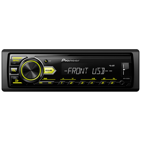 USB-Автомагнитола Pioneer MVH-08UBG автомагнитола pioneer mvh 280fd usb mp3 cd fm 1din 4x100вт черный