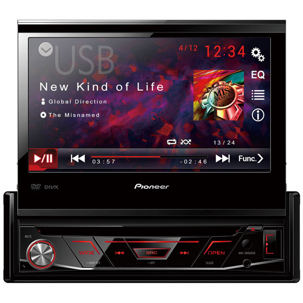 Автомобильная магнитола с DVD + монитор Pioneer AVH-3800DVD автомагнитола pioneer avh 3800dvd