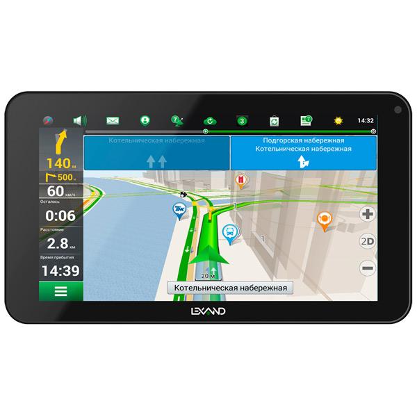 Портативный GPS-навигатор Lexand SB-7 HD lexand sa5 black gps навигатор