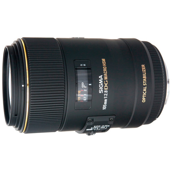Объектив Sigma 105mm f/2.8 MACRO EX DG OS HSM CANON sigma af 150mm f 2 8 apo macro ex dg os hsm макрообъектив для canon ef