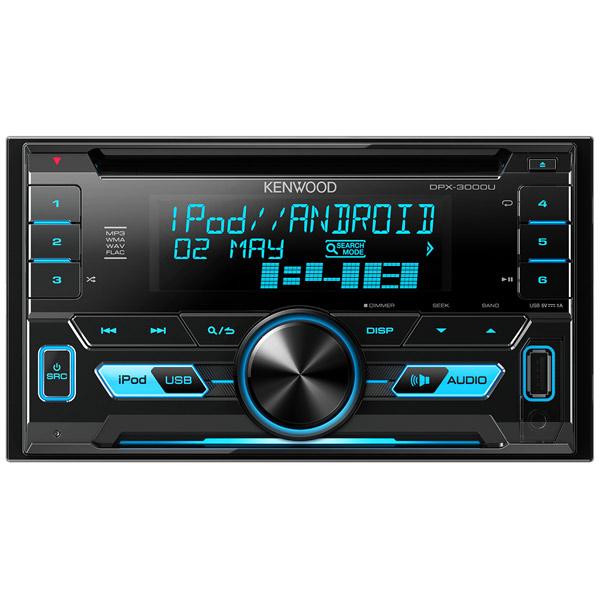 Автомобильная магнитола с CD MP3 Kenwood DPX-3000U автомагнитола kenwood dpx 3000u usb mp3 cd fm rds 2din 4х50вт пульт ду черный