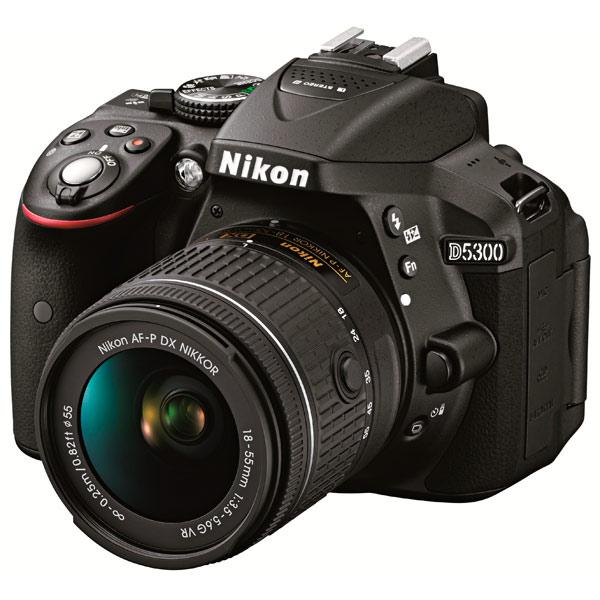 Фотоаппарат зеркальный Nikon D5300 Kit 18-55 VR AF-P Black фотоаппарат зеркальный nikon d3400 af p 18 55 vr black