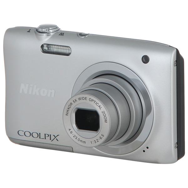 Nikon, Фотоаппарат компактный, Coolpix A100 Silver