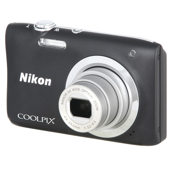 Фотоаппарат компактный Nikon Coolpix A100 Black фотоаппарат nikon coolpix a10 purple purple lineart 16mp 5x zoom sd usb 2 7
