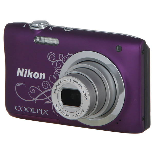 Фотоаппарат компактный Nikon Coolpix A100 Purple Lineart фотоаппарат nikon coolpix a100 purple lineart