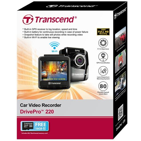 Видеорегистратор Transcend DrivePro 220 (TS16GDP220M) - фото 5