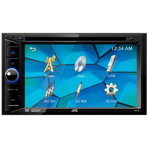 Автомобильная магнитола с DVD + монитор JVC KW-V12 бу монитор для камеры заднего хода