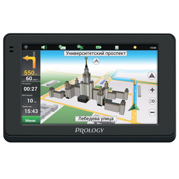 Портативный GPS-навигатор Prology iMAP-4500 аккумулятор craftmann для rover n6 g7 v7 x7 1500mah craftmann