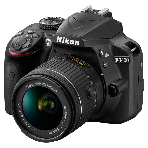 Фотоаппарат зеркальный Nikon D3400 + AF-P 18-55 VR Black профессиональная цифровая slr камера nikon d3200 18 55mmvr