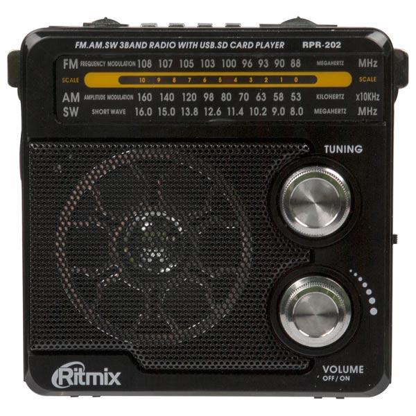 Радиоприемник Ritmix RPR-202 Black антенны телевизионные ritmix антенна телевизионная