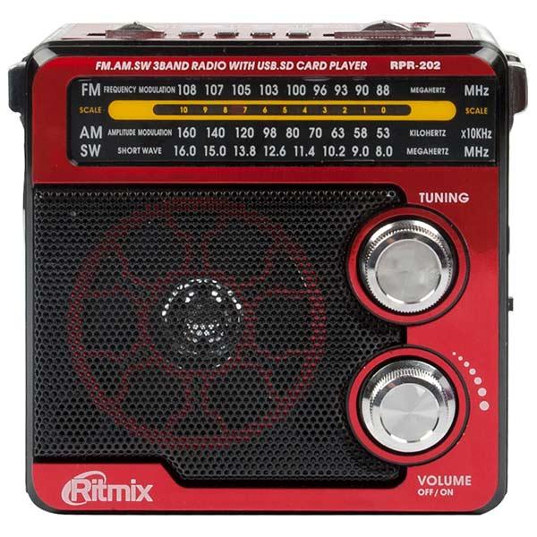 Радиоприемник Ritmix RPR-202 Red антенны телевизионные ritmix антенна телевизионная