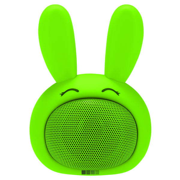 Беспроводная акустика InterStep SBS-150 FunnyBunny Lime (IS-LS-SBS150GRE-000B201) interstep funny bunny 3w sbs 150 pink портативная bluetooth колонка