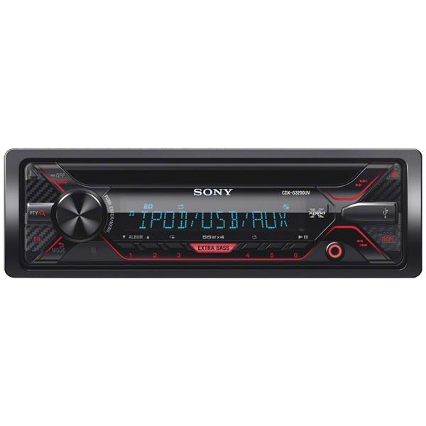 Автомобильная магнитола с CD MP3 Sony CDXG3200UV/Q автомобильный усилитель 2 канала sony xm n502 q