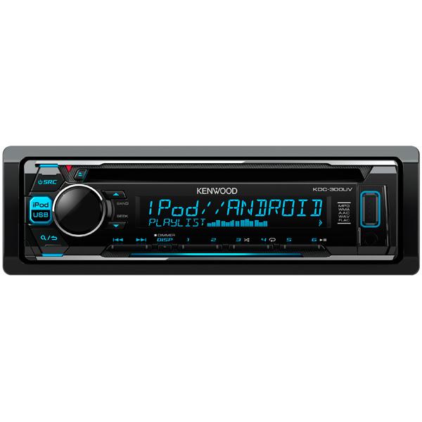 Автомобильная магнитола с CD MP3 Kenwood KDC-300UV автомагнитола kenwood kmm 103gy usb mp3 fm 1din 4х50вт черный