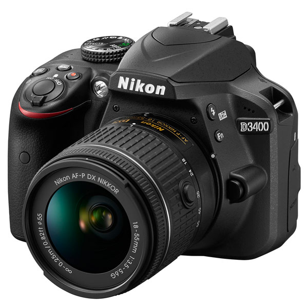 Фотоаппарат зеркальный Nikon D3400 + AF-P 18-55 II KIT фотоаппарат зеркальный nikon d3400 af p 18 55 vr black