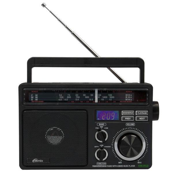 Радиоприемник Ritmix RPR-222 радиоприемник дв св укв