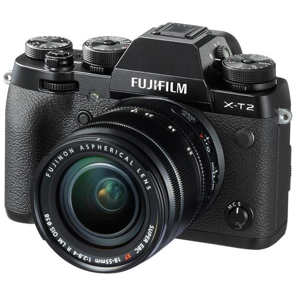 Фотоаппарат системный премиум Fujifilm X-T2 Kit 18-55 Black фотоаппарат системный премиум fujifilm x е3 kit 18 55mm black