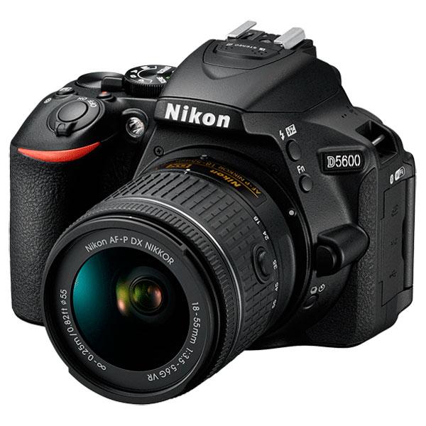 Фотоаппарат зеркальный Nikon D5600 + 18-55 P VR профессиональная цифровая slr камера nikon d3200 18 55mmvr