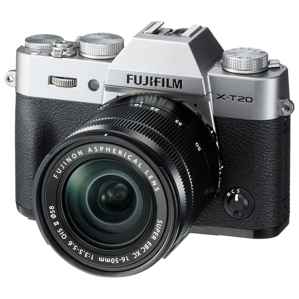 Фотоаппарат системный Fujifilm X-T20 KIT 16-50 II Silver фотоаппарат fujifilm x t1 body graphite silver edition