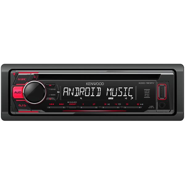 Автомобильная магнитола с CD MP3 Kenwood KDC-151RY