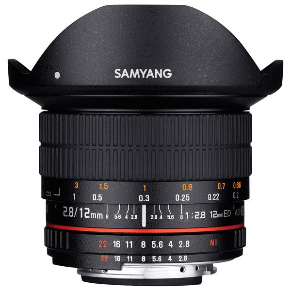 Объектив Samyang 12mm f/2.8 ED AS NCS Fish-eye Canon EF canon as 130 черный