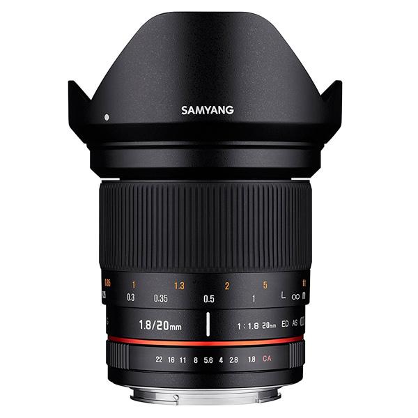 Объектив Samyang 20mm f/1.8 ED AS UMC Canon EF canon as 130 черный