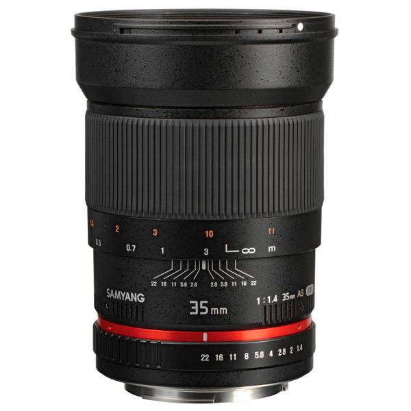 Объектив Samyang 35mm f/1.4 ED AS UMC AE Canon EF canon as 130 черный