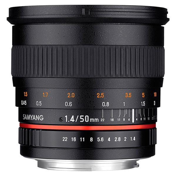 Объектив Samyang 50mm f/1.4 AS UMC Canon EF canon as 130 черный