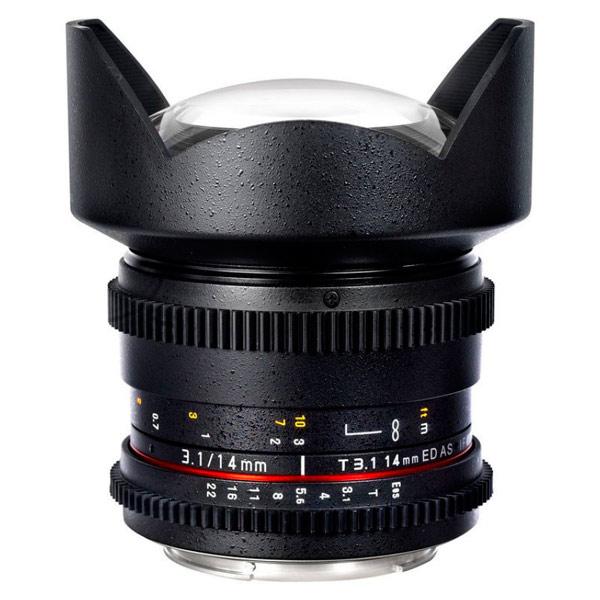 Объектив Samyang 14mm T3.1 ED AS IF UMC VDSLR II Canon EF объектив samyang canon m mf 16 mm t2 2 as ed umc cs ii vdslr ii