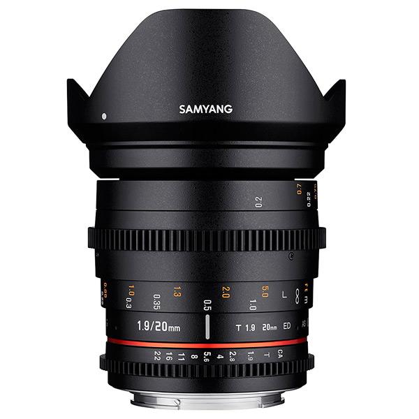 Объектив Samyang 20mm T1.9 ED AS UMC VDSLR Canon EF canon as 130 черный