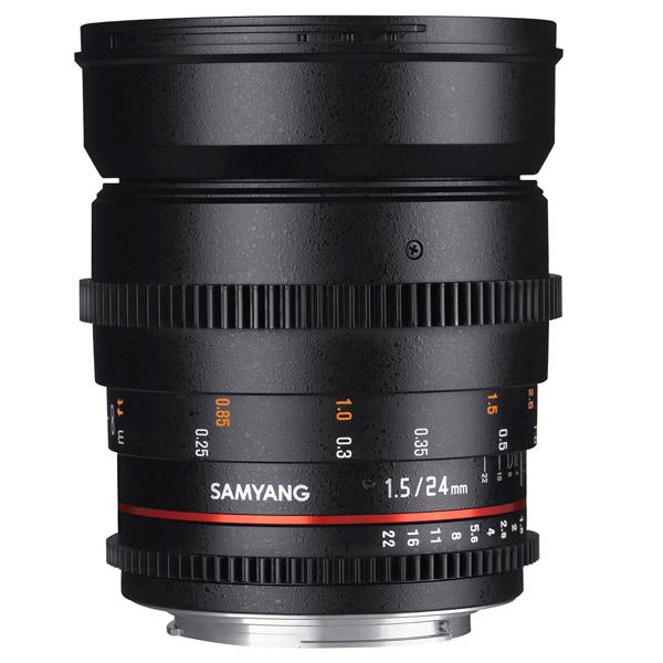 Объектив Samyang 24mm T1.5 ED AS UMC VDSLR Canon EF canon as 130 черный