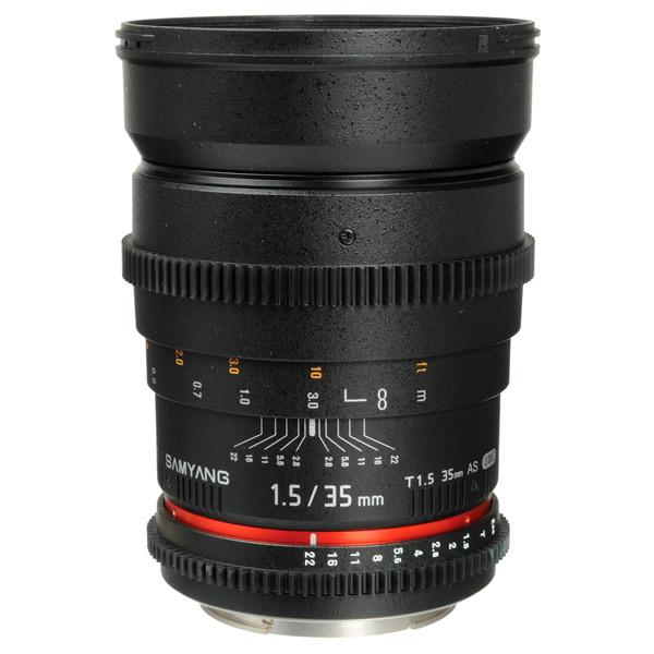Объектив Samyang 35mm T1.5 ED AS UMC VDSLR Canon EF canon as 130 черный