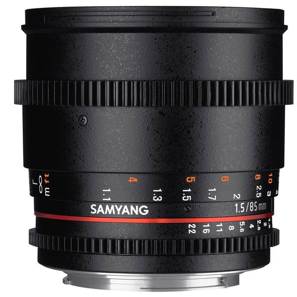 Объектив для зеркального фотоаппарата Canon Samyang 85mm T1.5 AS IF UMC VDSLR II Canon EF объектив samyang 85mm f 1 4 as if canon ef