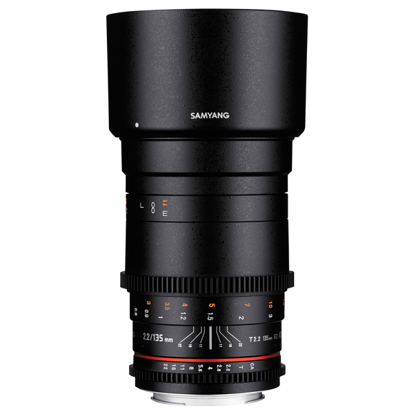 Объектив Samyang 135mm T2.2 ED UMC VDSLR Nikon F объектив samyang 135mm f 2 0 ed umc micro 4 3