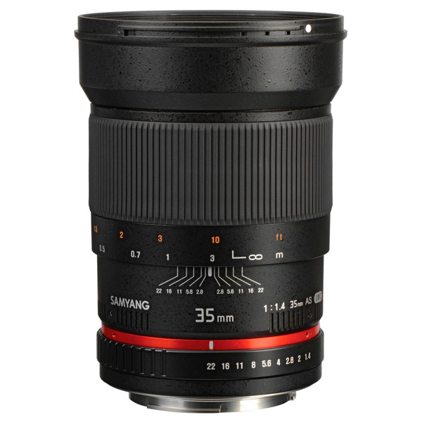 Объектив Samyang 35mm f/1.4 ED AS UMC Sony E (NEX) объектив samyang sony e nex mf 12 mm t3 1 vdslr