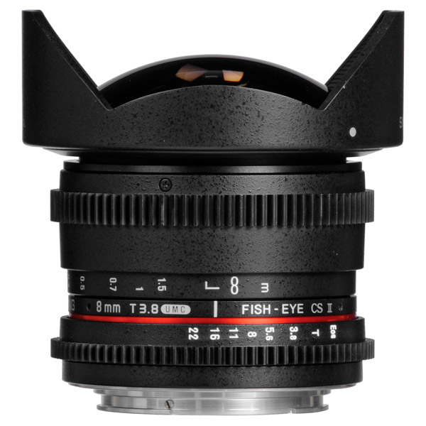 Объектив Samyang 8mm T3.8 AS IF UMC Fish-eye CS II VDSLR Sony E объектив samyang sony e nex mf 12 mm t3 1 vdslr