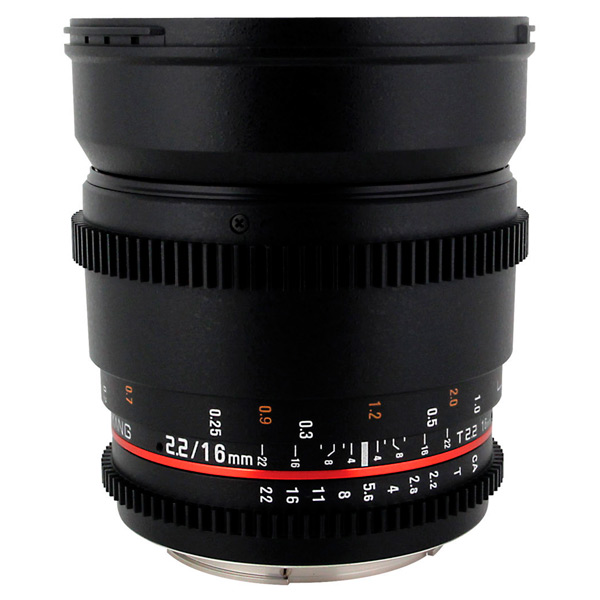 Объектив Samyang 16mm T2.2 ED AS UMC CS VDSLR Sony E (NEX) объектив samyang sony e nex mf 12 mm t3 1 vdslr