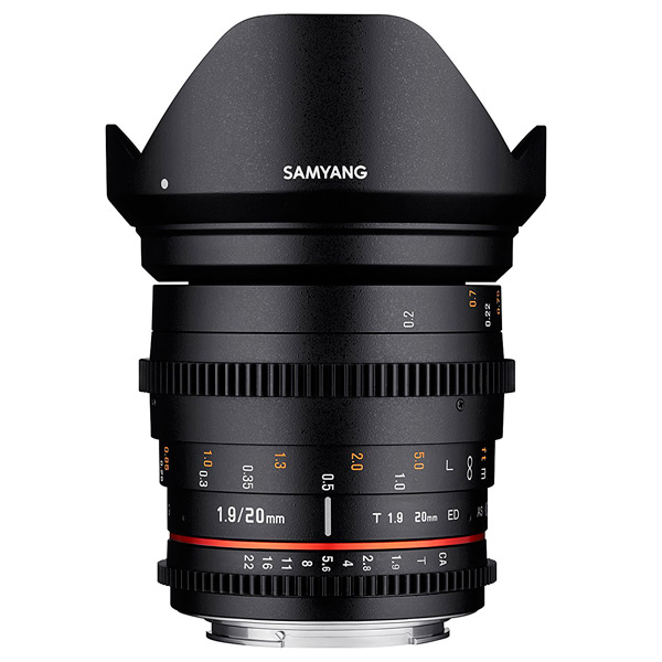 Объектив Samyang 20mm T1.9 ED AS UMC VDSLR Sony E (NEX) объектив samyang sony e nex mf 12 mm t3 1 vdslr
