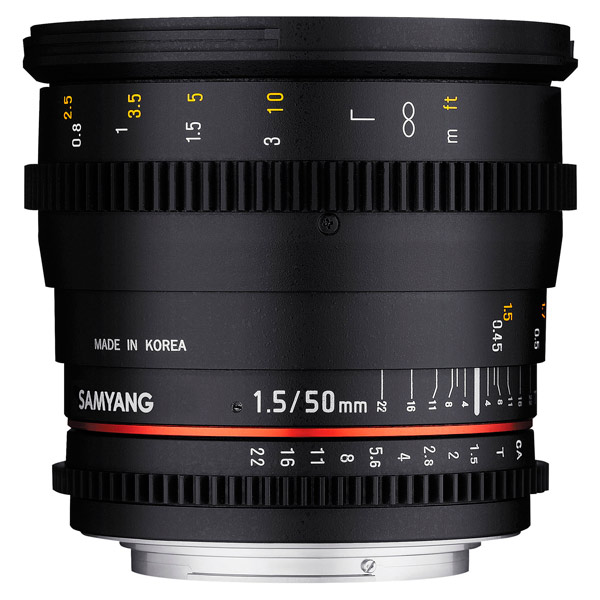 Объектив Samyang 50mm T1.5 AS UMC VDSLR Sony E (NEX) объектив samyang sony e nex mf 12 mm t3 1 vdslr