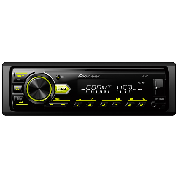 USB-Автомагнитола Pioneer MVH-09UBG автомагнитола pioneer mvh 280fd usb mp3 cd fm 1din 4x100вт черный