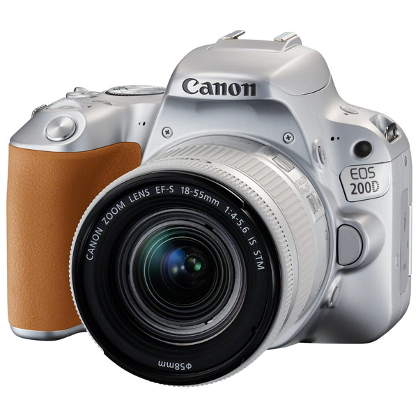 Фотоаппарат зеркальный Canon EOS 200D EF-S 18-55 IS STM Kit Silver фотоаппарат canon eos 70d kit ef s 18 55 is stm