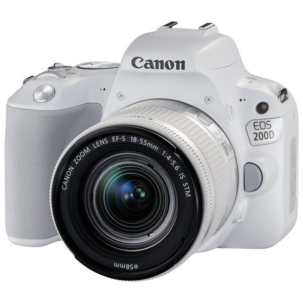Фотоаппарат зеркальный Canon EOS 200D EF-S 18-55 IS STM Kit White ismartdigi lp e6 7 4v 1800mah lithium battery for canon eos 60d eos 5d mark ii eos 7d