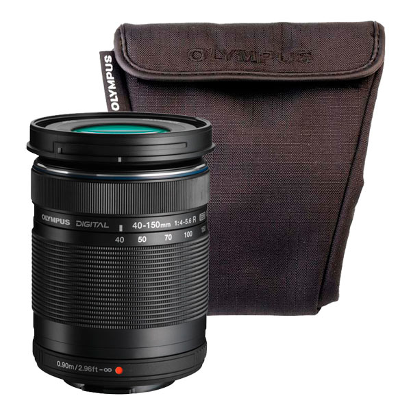 Объектив Olympus 40-150mm 1:4.0-5.6 R черный + OM-D Wrapping case olympus creator soft case m черный