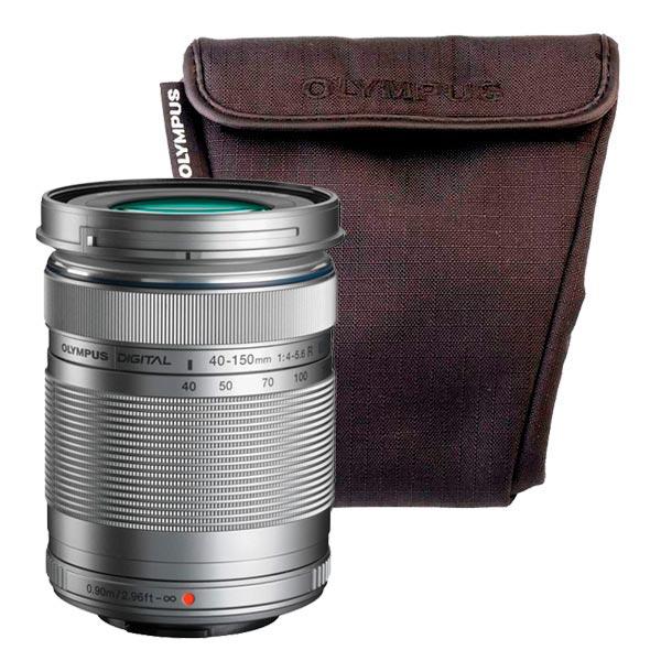 Olympus, Объектив, 40-150mm 1:4.0-5.6 R серебр. + OM-D Wrapping case