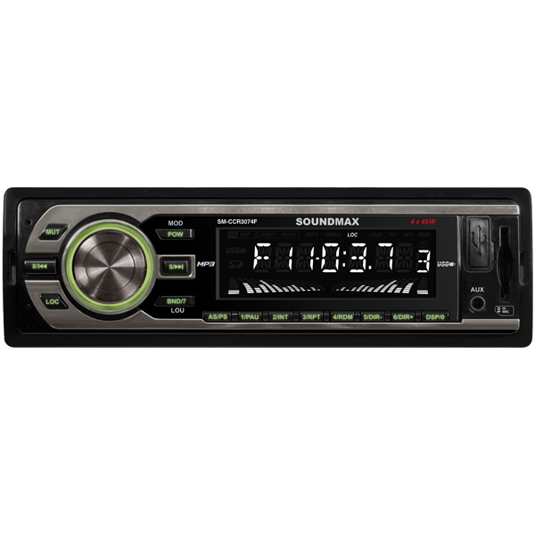 USB-Автомагнитола Soundmax SM-CCR3074F Black/Green